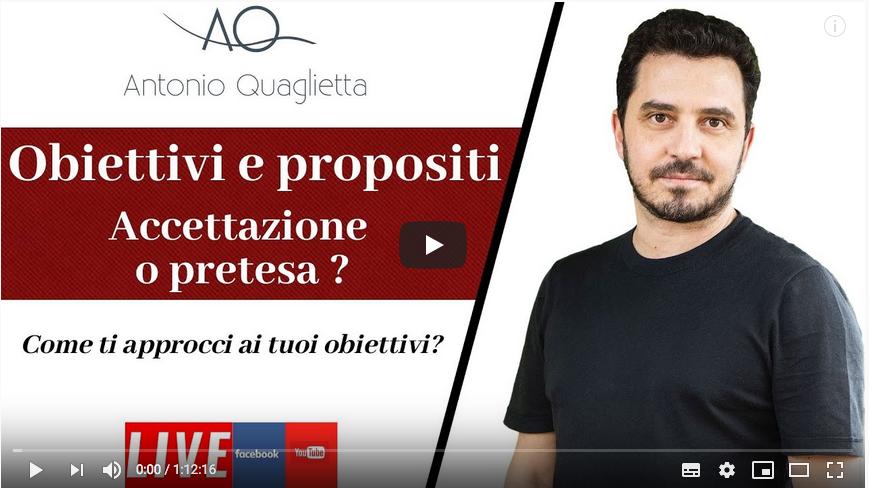 Obiettivi e propositi: accettazione o pretesa?